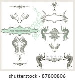 calligraphic design elements...   Shutterstock .eps vector #87800806