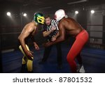 Two Masked Wrestlers Prepare T...