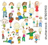 collection of different... | Shutterstock .eps vector #87805903