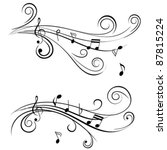 Ornamental Music Notes With...