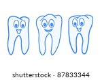 nice healthy tooth  health and... | Shutterstock . vector #87833344
