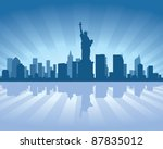 newyork skyline with reflection ... | Shutterstock .eps vector #87835012