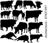 cow silhouettes collection   Shutterstock . vector #87837397