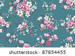 seamless wallpaper pattern with ... | Shutterstock .eps vector #87854455