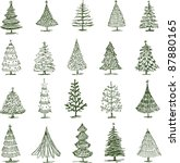 christmas trees | Shutterstock .eps vector #87880165