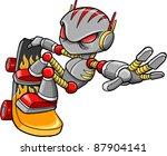cyborg robot skateboarder... | Shutterstock .eps vector #87904141