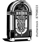 jukebox 2   retro clipart... | Shutterstock .eps vector #87908023