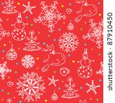 christmas  red seamless... | Shutterstock .eps vector #87910450