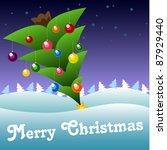 christmas card   Shutterstock .eps vector #87929440