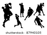 basketball players | Shutterstock . vector #87940105