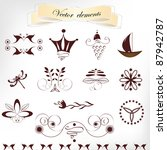 calligraphic elements  a set | Shutterstock .eps vector #87942787