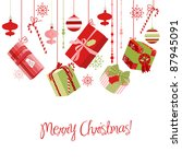 christmas gifts | Shutterstock .eps vector #87945091