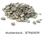Pale Of Crushed Stone Isolated...