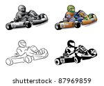 go cart karting racing race | Shutterstock .eps vector #87969859