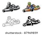 go cart karting racing race | Shutterstock .eps vector #87969859