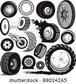 tire   wheel collection | Shutterstock .eps vector #88014265