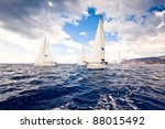 sailing ship yachts with white... | Shutterstock . vector #88015492