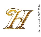 vintage initial.  gold alphabet ... | Shutterstock . vector #88017514