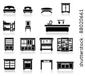 icons set home furniture | Shutterstock .eps vector #88020661