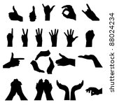 Hand Signal On White. Vector...