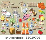 agriculture   big set of the ...   Shutterstock . vector #88029709