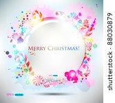abstract glossy speech bubble... | Shutterstock .eps vector #88030879
