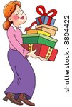 mother  woman  teacher   present   Shutterstock . vector #8804422