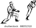 karate kyokushinkai sketch... | Shutterstock .eps vector #88051510