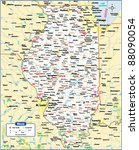 illinois state map | Shutterstock .eps vector #88090054
