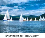 sailboats at alster lake in... | Shutterstock . vector #88093894