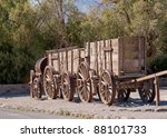 Train Of Wagons By Death Valle...