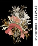 intricate flower motif vector... | Shutterstock .eps vector #88119169