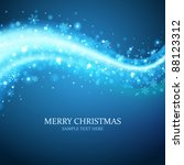 christmas background snowflakes ... | Shutterstock .eps vector #88123312