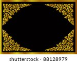 thai flower pattern background | Shutterstock .eps vector #88128979