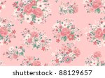 seamless vintage rose pattern | Shutterstock .eps vector #88129657