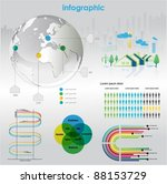 infographic vector graphs and... | Shutterstock .eps vector #88153729