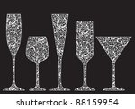collection of new year's... | Shutterstock . vector #88159954