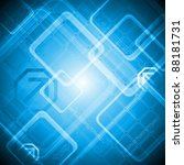 blue hi tech design. vector...   Shutterstock .eps vector #88181731