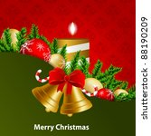 vector christmas greeting card | Shutterstock .eps vector #88190209