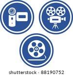 movie and video cameras  ... | Shutterstock .eps vector #88190752
