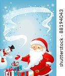 santa claus and snowman | Shutterstock .eps vector #88194043