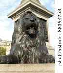 One Of The Lions On Trafalgar...
