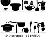 illustration with ware on white ... | Shutterstock .eps vector #88195507