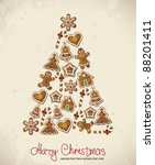 Christmas Tree With Gingerbread