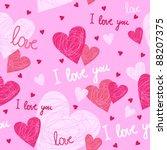 love valentine pattern | Shutterstock .eps vector #88207375