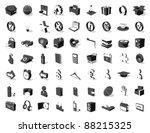 black white 3d icon set 63...