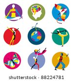 vector icons for human... | Shutterstock . vector #88224781