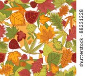 Autumn leaves seamless background for seasonal design. Jpeg version also available in gallery - stock vector