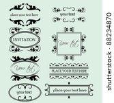 set of decorative frame... | Shutterstock .eps vector #88234870