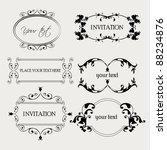 set of decorative frame...   Shutterstock .eps vector #88234876